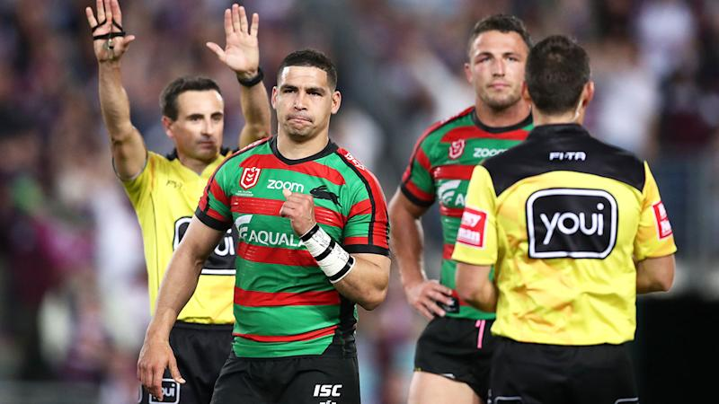 Cody Walker was sent to the sin bin during the Rabbitohs' win against Manly.
