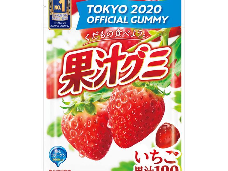 明治草莓果汁軟糖
