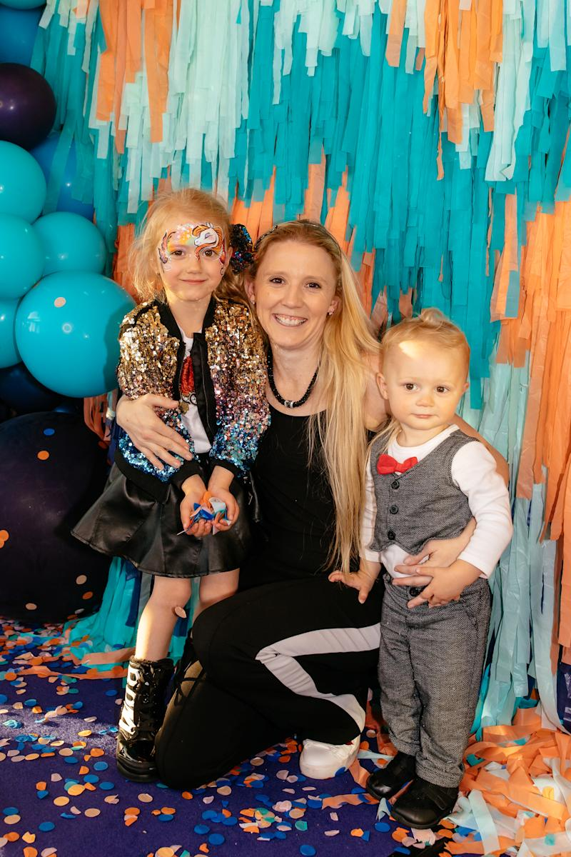 Nikki Webster at The Iconic Kids First Birthday event with her two gorgeous kids, Skylah, five, and almost-two-year-old Malachi McMah who she shares with husband Matthew.
