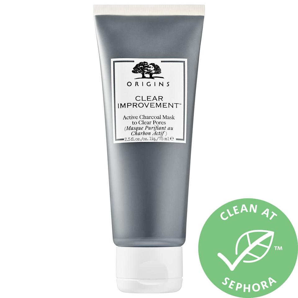 """<p>This <a href=""""https://www.popsugar.com/buy/Origins-Clear-Improvement-Active-Charcoal-Mask-Clear-Pores-575784?p_name=Origins%20Clear%20Improvement%20Active%20Charcoal%20Mask%20to%20Clear%20Pores&retailer=sephora.com&pid=575784&price=26&evar1=bella%3Aus&evar9=45747716&evar98=https%3A%2F%2Fwww.popsugar.com%2Fphoto-gallery%2F45747716%2Fimage%2F47491049%2FOrigins-Clear-Improvement-Active-Charcoal-Mask-to-Clear-Pores&list1=face%20mask%2Cacne%2Cbeauty%20shopping%2Cskin%20care&prop13=api&pdata=1"""" rel=""""nofollow"""" data-shoppable-link=""""1"""" target=""""_blank"""" class=""""ga-track"""" data-ga-category=""""Related"""" data-ga-label=""""https://www.sephora.com/product/clear-improvement-active-charcoal-mask-to-clear-pores-P297524?icid2=products%20grid:p297524:product"""" data-ga-action=""""In-Line Links"""">Origins Clear Improvement Active Charcoal Mask to Clear Pores</a> ($26) is beloved for a reason. It really clears up pores but doesn't make your skin feel overly tight.</p>"""