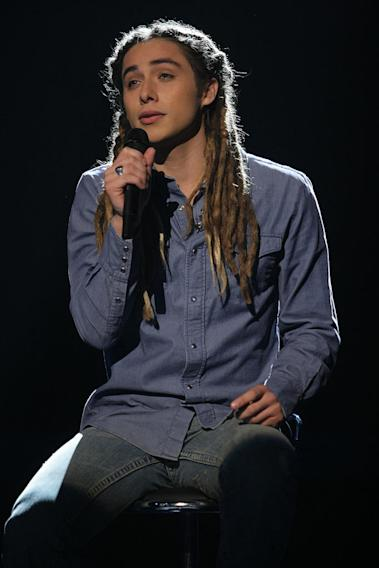 Jason Castro performs as one of the top 16 contestants on the 7th season of American Idol.