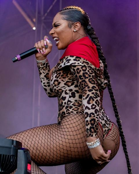 Rapper Megan Thee Stallion performs during the Astroworld Festival in Houston in 2019