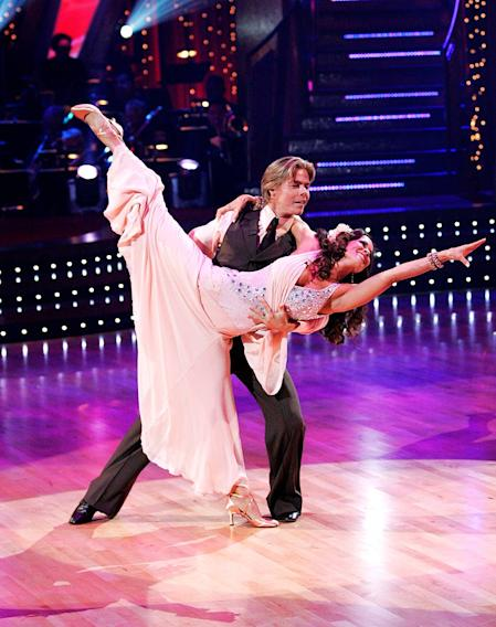 Brooke Burke and Derek Hough perform a dance on the seventh season of Dancing with the Stars.