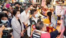 台北市長熱門人選同台!陳時中、黃珊珊赴迪化商圈視察美豬標示