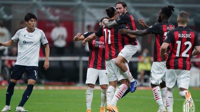 Hasil Lengkap Sepakbola Dini Hari Tadi: Milan dan ManCity Berpesta