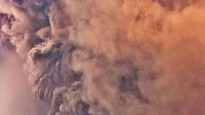 Petani Rugi Rp41 Miliar akibat Letusan Gunung Sinabung
