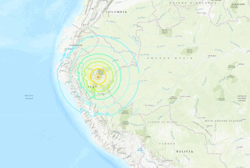 Magnitude 8 natural disaster hits northern Peru