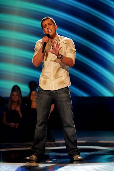 David Hernandez performs as one of the top 24 contestants on the 7th season of American Idol.