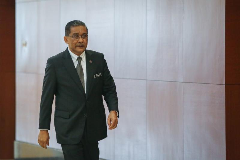 Law Minister Datuk Seri Takiyuddin Hassan is pictured at Parliament in Kuala Lumpur July 14, 2020. — Picture by Yusof Mat Isa