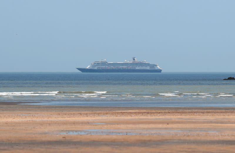 FILE PHOTO: Cruise ship MS Zaandam is pictured as coronavirus disease outbreak continues in Panama City