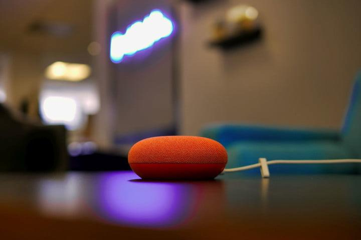 Google Nest Mini on table