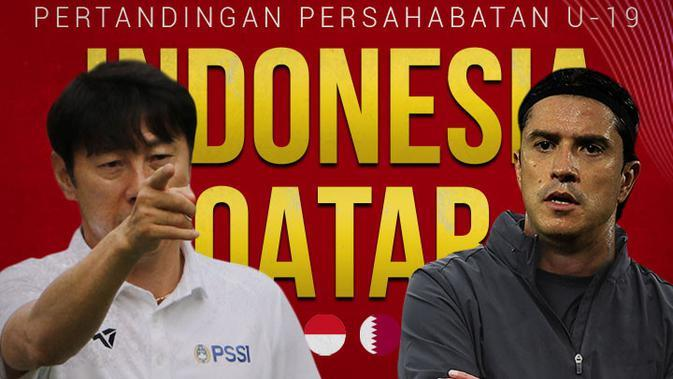 Timnas Indonesia - Timnas Indonesia U-19 Vs Qatar U-19 - Head to Head Pelatih (Bola.com/Adreanus Titus)