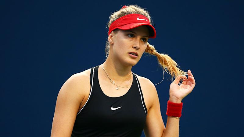 Genie Bouchard in action at the Rogers Cup. Pic: Getty
