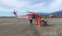 綠島85歲老翁腦中風 空勤出動黑鷹直送醫院