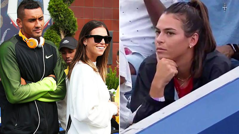 Aussies Ajla Tomljanovic and Nick Kyrgios used to be an item.