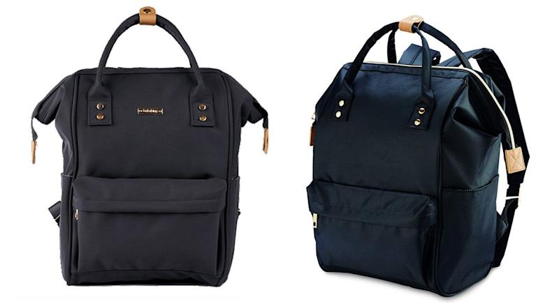 708bc660123 Spot the difference  The Bababing Mani baby changing bag (left) and the Aldi