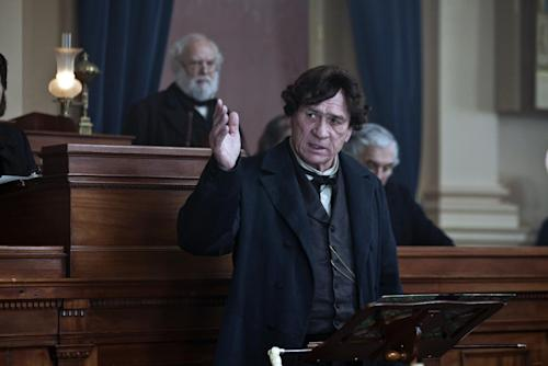 "FILE -This image released by DreamWorks II Distribution Co., LLC and Twentieth Century Fox Film Corporation shows Tommy Lee Jones in a scene from ""Lincoln."" Jones is nominated for an Academy Award for supporting actor for ""Lincoln."" The 85th Academy Awards are held in Los Angeles on Sunday, Feb. 24. (AP Photo/DreamWorks II Distribution Co., LLC and Twentieth Century Fox Film Corporation, David James)"