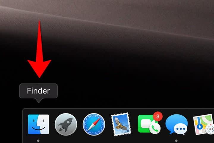 MacOS Finder Icon Location
