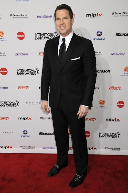 "FILE - In this Nov. 21, 2011 file photo, MSNBC anchor Thomas Roberts arrives for the International Emmy Awards in New York. The cable network on Friday, Jan. 3, 2014, gave Roberts the job as anchor of the ""Way Too Early"" program. (AP Photo/Henny Ray Abrams, File)"