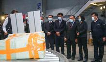 總統赴台北港視察非洲豬瘟檢疫(2) (圖)