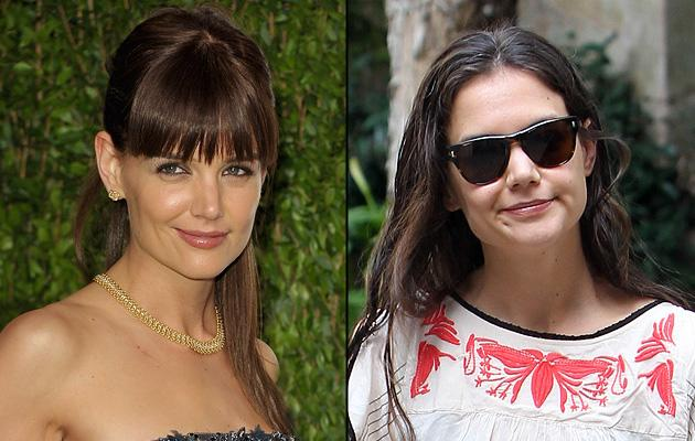 Did Katie Holmes Fake Her Bangs?