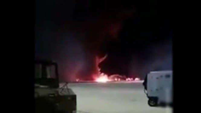Pesawat Tempur F-16 Jatuh dan Meledak, Pilot Tewas