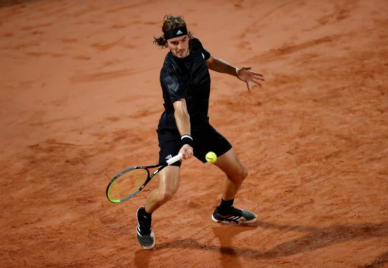 Tsitsipas survives first-round scare in five-set win over Munar