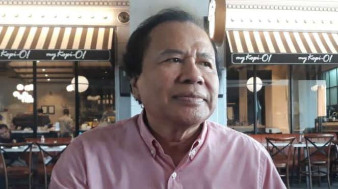 Pakar ekonomi dan Menteri Koordinator Bidang Perekonomian Rizal Ramli di Surabaya, Jawa Timur, pada Minggu, 8 Maret 2020.
