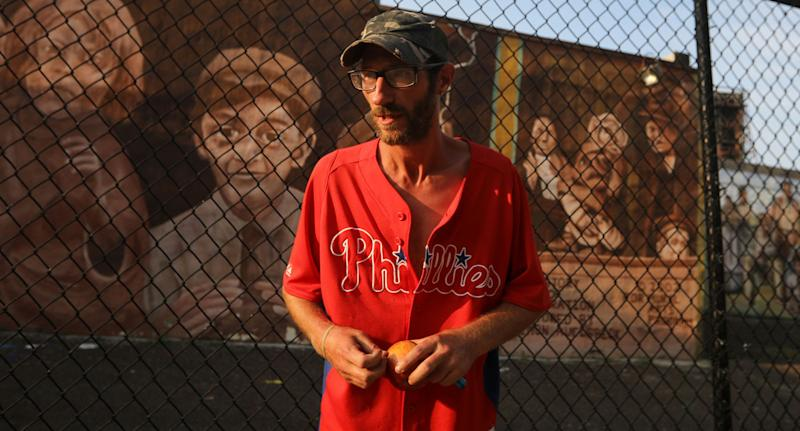 Homeless war veteran Johnny Bobbitt (pictured), 34, used his last $20 to fill up the gas tank of stranded motorist Kate McClure in Philadelphia in November 2017. She raised $545,000 for him on GoFundMe but Mr Bobbitt's lawyer claims the money is gone and he never received it. Source: AAP