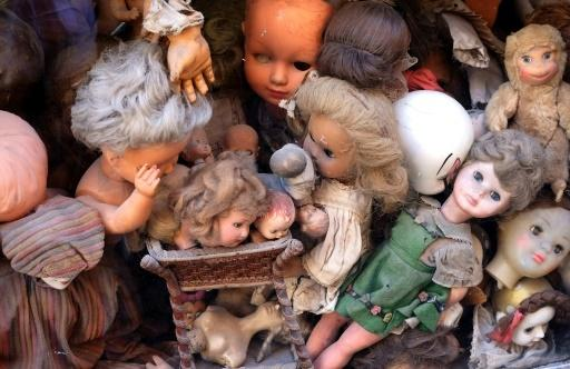 Despite efforts, there are some dolls that just can't be repaired, usually because spare parts can't be found