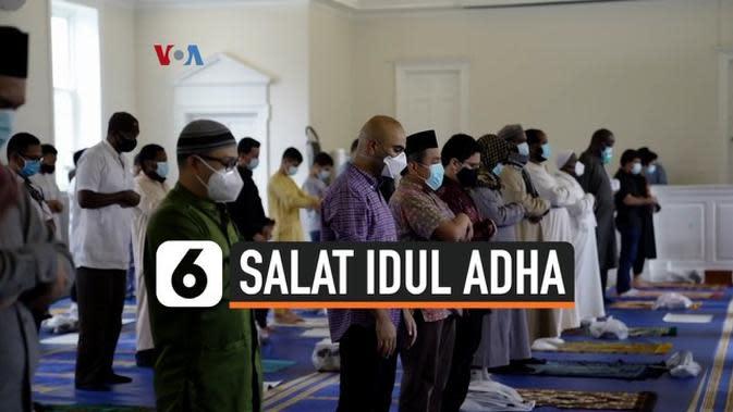 VIDEO: Salat Iduladha di AS dengan Protokol Covid-19
