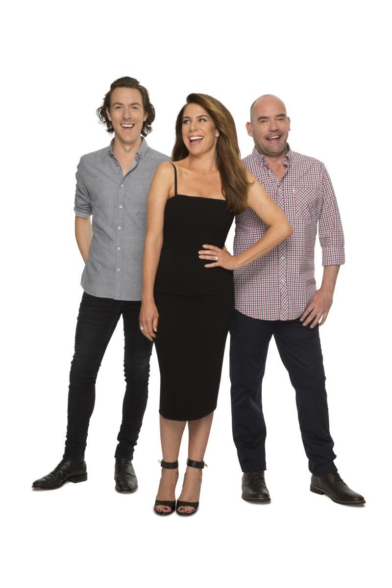 Kate Ritchie co-hosts Nova FM's Kate, Tim and Marty drive show alongside Tim Blackwell and Marty Sheargold. Photo: Nova FM
