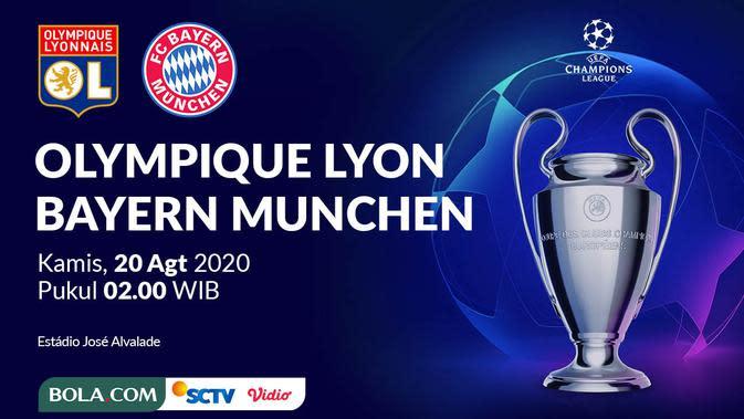 Liga Champions - Olympique Lyon Vs Bayern Munchen (Bola.com/Adreanus Titus)