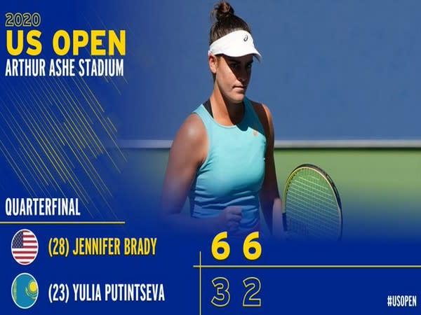 Jennifer Brady enters semi-finals of US Open (Photo/ US Open Twitter)