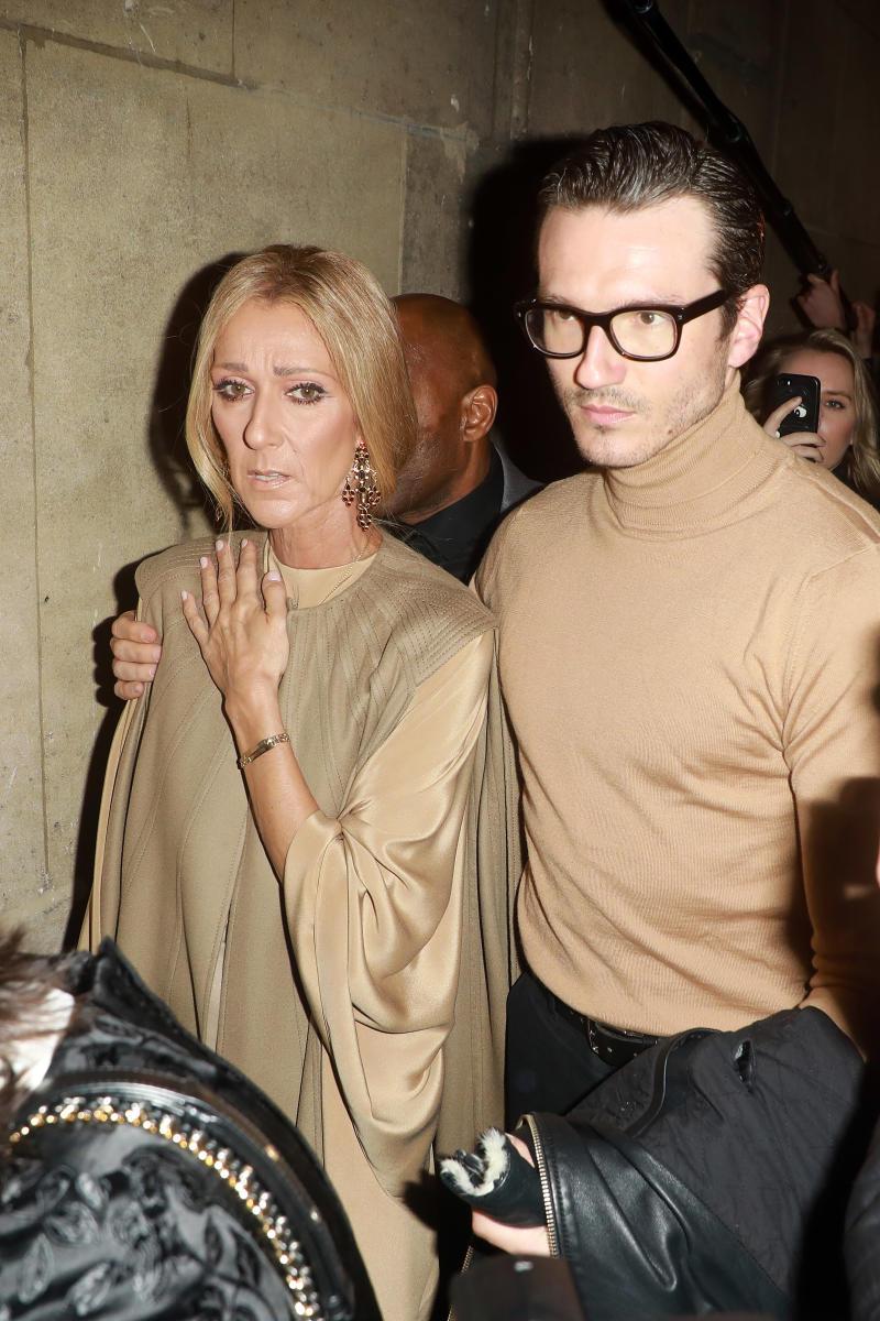 Pepe Munoz puts his arm around Celine Dion