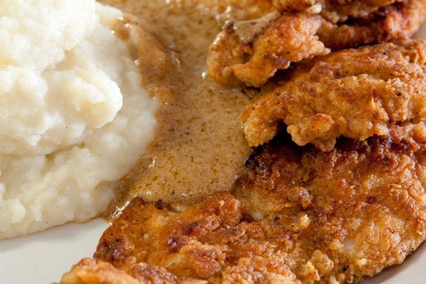 Whether eaten together, enjoyed solo, or even with waffles and bacon bits respectively, both fried chicken and creamy mashed potatoes are hearty Southern U.S. comfort foods. Fried chicken is juicy, crunchy, and salty, and tends to , which can be instantly comforting. Mashed potatoes tend to do the same, though the added warmth and creaminess of the starch adds another layer of comfort to the dish.