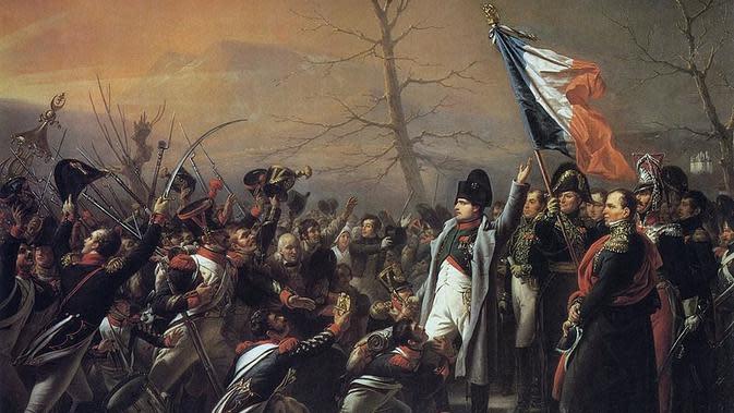 Lukisan yang menggambarkan Napoleon yang kembali dari Pulau Elba, karya Charles de Steuben (Wikipedia/Public Domain)