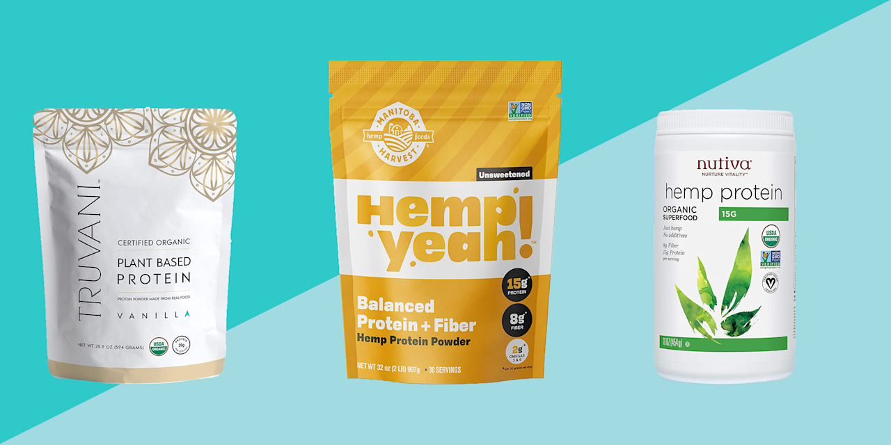 """<p>When it comes to increasing your sports performance and building muscle, there's no better time to follow a vegan, vegetarian, or plant-based diet. From hemp to pea protein to power blends of plant proteins, there's no shortage of vegan <a href=""""https://www.prevention.com/food-nutrition/healthy-eating/a20440938/best-protein-powders-for-smoothies/"""" target=""""_blank"""">protein powders</a> out there. </p><p>But you're probably wondering how much protein you are actually getting, and do they contain <a href=""""https://www.prevention.com/food-nutrition/healthy-eating/g26895324/complete-protein-foods-list/"""" target=""""_blank"""">complete proteins</a>? The average plant-based protein powder has about 20 grams of protein per two-scoop serving compared to 24 grams of protein in a serving of whey protein powder. Although you're getting more protein in whey- or casein-based protein powders, vegan protein powders have the added benefit of supplying fiber and other important nutrients. And while not all vegan protein powders will be complete proteins, soy protein powders and some plant-based protein powder blends are.</p><h3>How to shop for the best vegan protein powders</h3><p>Shopping for the best vegan protein powders can be tricky because you want to ensure you're getting quality ingredients, so we tapped Amy Shapiro, MS, RD, CND, and founder of <a href=""""https://realnutritionnyc.com/"""" target=""""_blank"""">Real Nutrition</a>, for her advice. Here's what to consider when looking for a vegan protein powder at the grocery store: </p><p><strong>• Go for certified USDA organic and non-GMO brands:</strong> This ensures there are no fillers of artificial sweeteners or ingredients in the protein powder. </p><p><strong><strong>• </strong>Try to select single sourced protein powders</strong><strong>, like soy, pea protein, or hemp isolate</strong>. """"Sure, they're not complete proteins, but over the course of the day, your amino acids will balance out. You don't need to have complementary proteins at"""