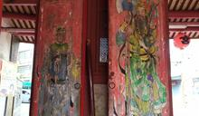 影/彰化聖王廟百年門神驚見3層彩繪 修復意見待整合