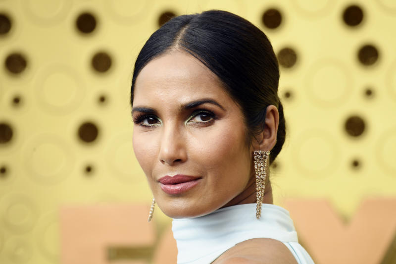 Padma Lakshmi showed her support for Colin Kaepernick ahead of Sunday night's Super Bowl. (Photo: Frazer Harrison/Getty Images)