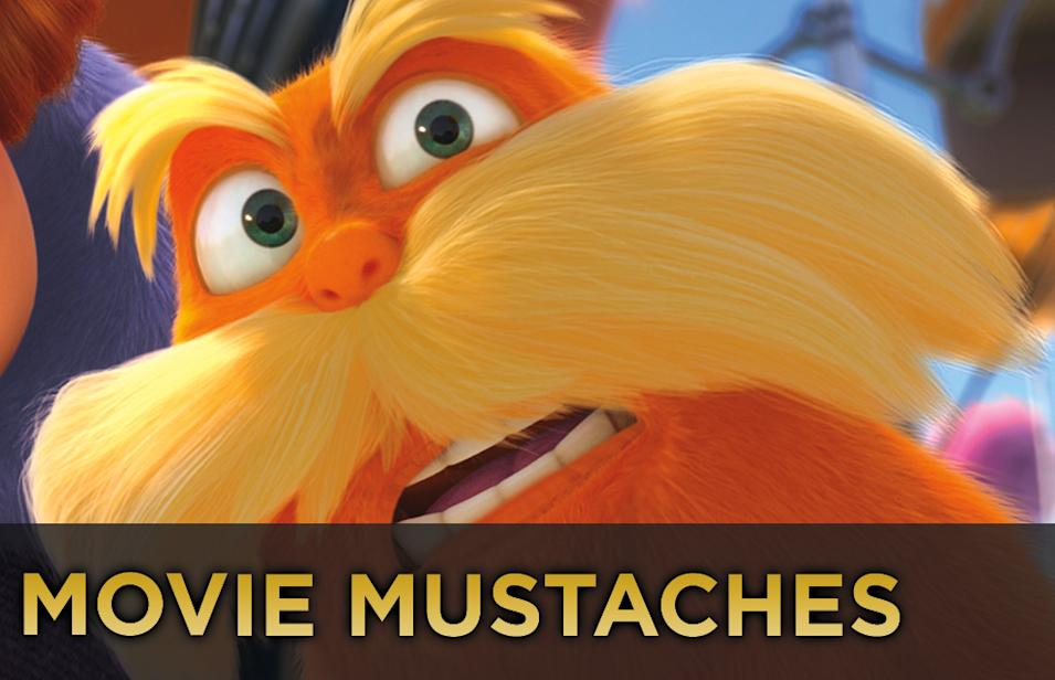 Movie Mustaches Title Card The Lorax