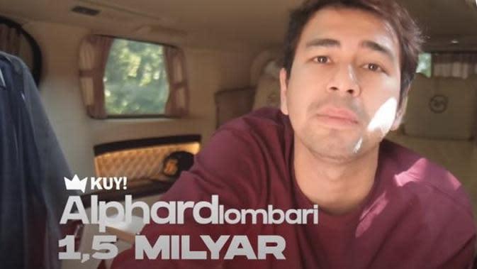 Mobilnya senilai Rp 1,5 milyar, ini potret mewah alphard milik Raffi Ahmad. (Sumber: YouTube/KUY Entertainment)
