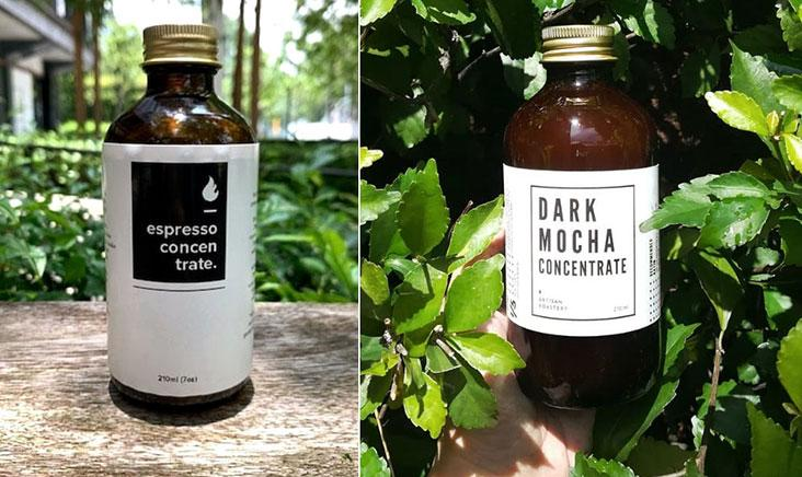 Coffee and dark mocha concentrate for home baristas – Pictures courtesy of Three Little Birds