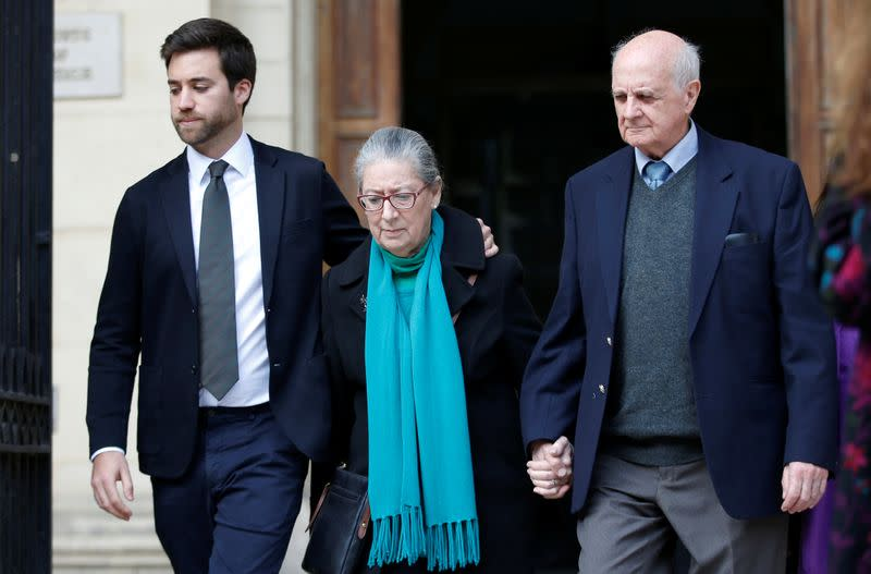 Family of Daphne Caruana Galizia leave the Courts of Justice after a hearing of Melvin Theuma, who allegedly acted as a middle man in a plot to murder the journalist, in Valletta