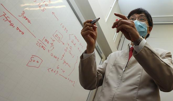 The Post met Professor Yuen Kwok-yung at his office in Queen Mary Hospital in Pok Fu Lam. Photo: Xiaomei Chen