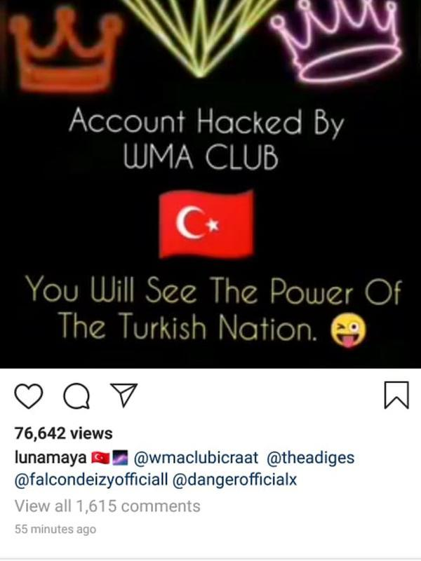 Instagram Luna Maya Diretas (Instagram/ lunamaya)