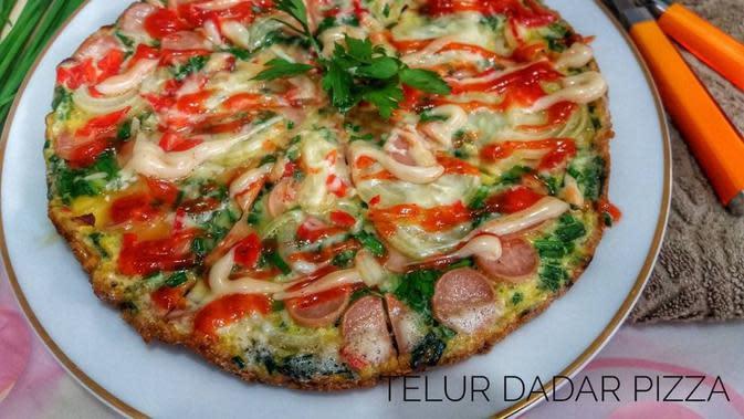 ilustrasi resep telur dadar pizza/instagram: @tina_komara