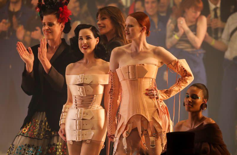 Designer Jean Paul Gaultier holds his last ever fashion show in Paris