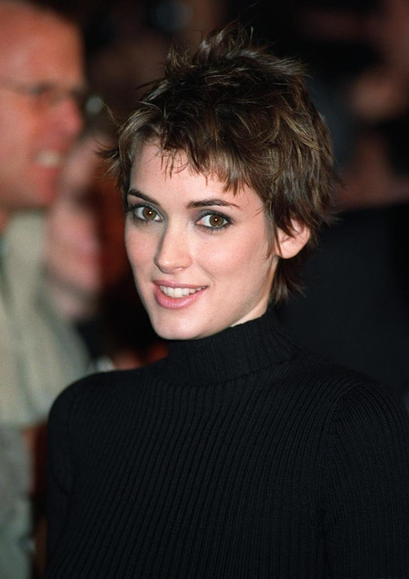 Winona Ryder most popular hairstyles