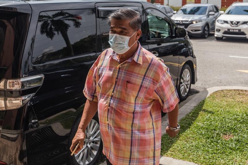 Parti Amanah Negara president Mohamad Sabu arrives at the PKR's headquarters in Petaling Jaya June 12, 2020. — Picture by Firdaus Latif